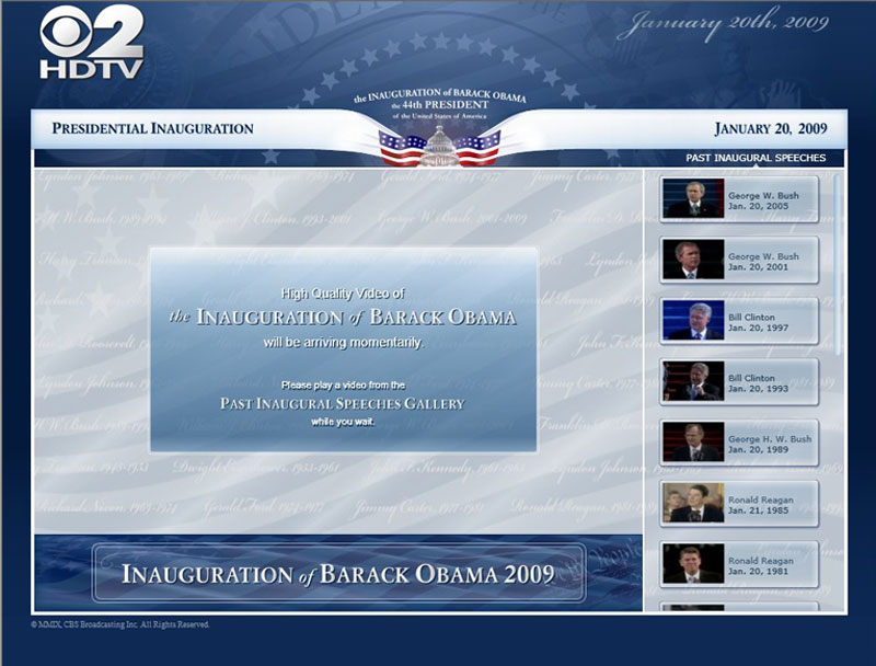 Inauguration Waiting Screen