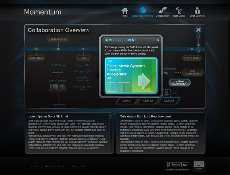Momentum Equipment Popover