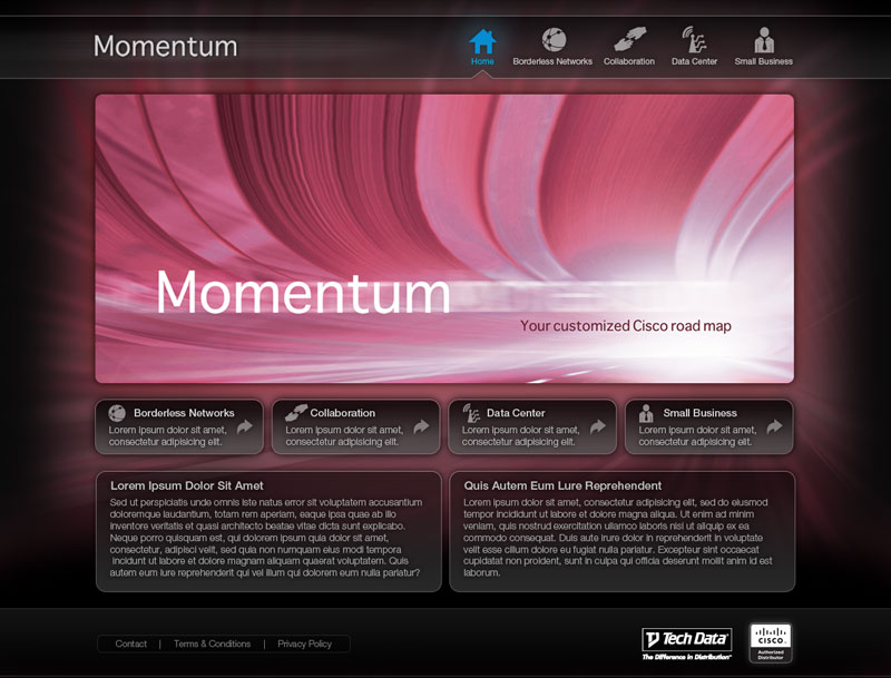 Momentum Home Screen