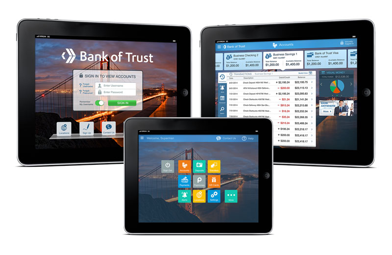 Monitise Tablet Banking App